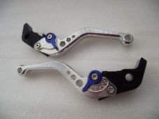 KTM 690 DUKE (08-11), CNC levers short silver/blue adjusters, F11/M11